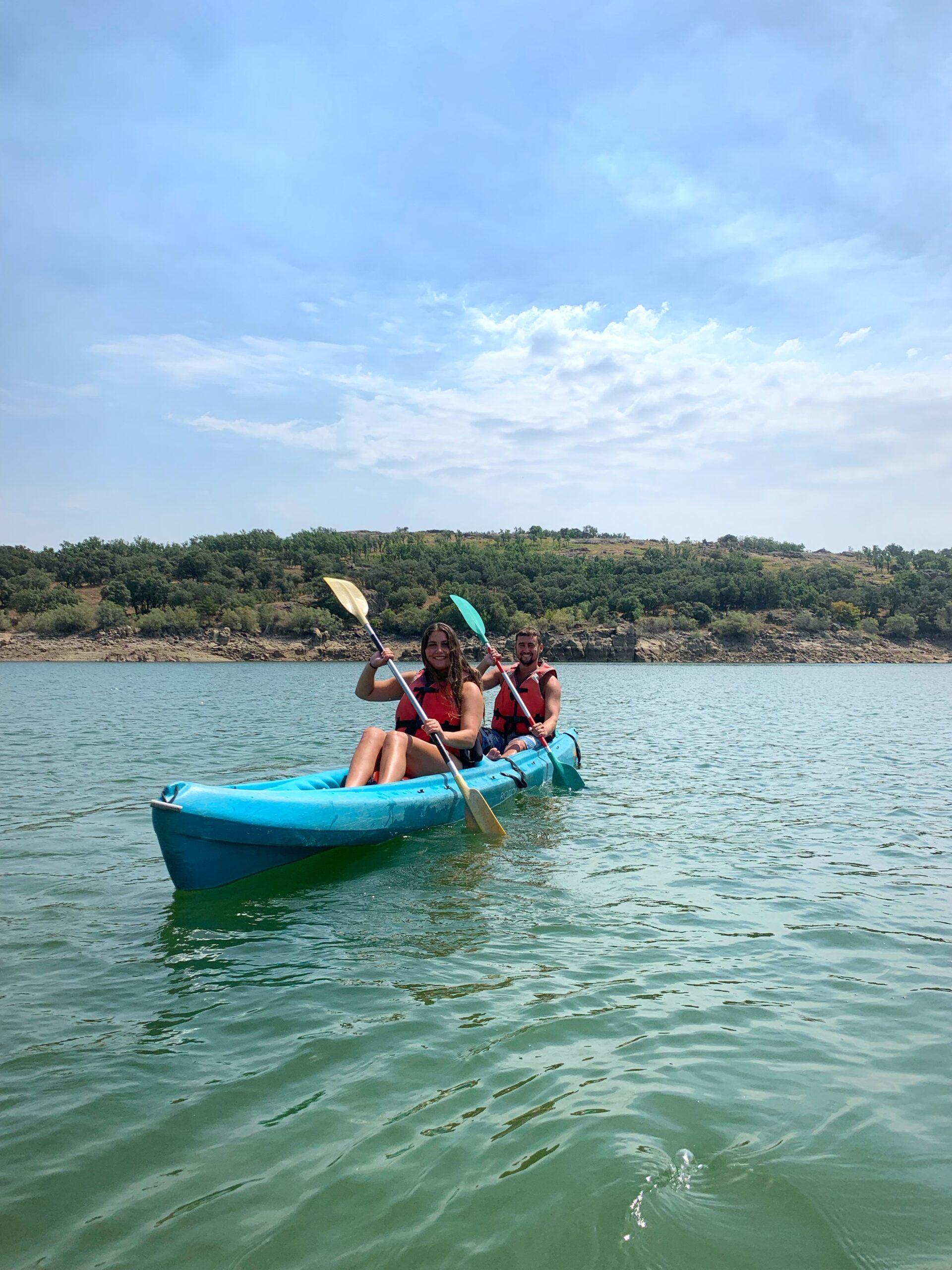 kayaks en Buitrago de lozoya